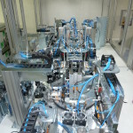 Assembly, testing and packaging line for automotive